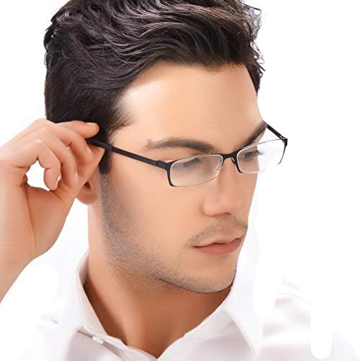 険しいおとうさん明確なKLESIA 老眼鏡 ブルーライトカット 超軽量 コンパクトに収納 リーディンググラス ファッション (度数:+1.5, 黒 ブラック)