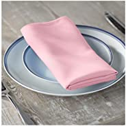 LA Linen 10-Pack Polyester Poplin Napkins 17 by 17-Inch, Light Pink