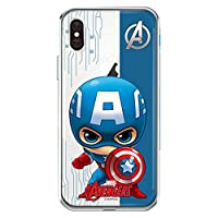 マーベル Marvel ジェリーケース iphone ケース captain america iphonex iphone x iphone xs iphonexs iphone 10 あいふぉんx あいふぉんxs マーベルケース アイアンマン スパイダーマン キャプテンアメリカ Marvel clear case(iphone X/Xs, キャプテンアメリカ)