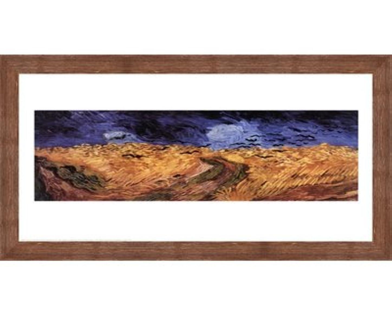 パノラマロバ才能のあるWheatfield with Crows、c.1890 Vincent van Gogh – 30 x 24インチ – アートプリントポスター LE_25136-F10570-30x24