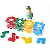 Coinar 鳥 ペット用品 インコ おもちゃ オウム ハムスター パロット カラフル 教育玩具 知能玩具 小動物の玩具 ケージ飾り ストレス解消 運動不足