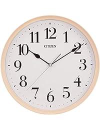 リズム時計工業 掛け時計 ピンク Φ28.3x5.2cm シチズン 電波 アナログ 連続秒針 小さい タイプ 丸型 木 8MY528-013