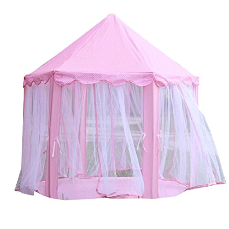 fheavenゲームテントプリンセス城子供のテントゲーム家の再生の子供ポータブルテントベビービーチおもちゃアウトドアキャンプもOK ブルー