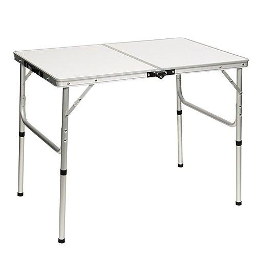 [アウトドア] 折りたたみテーブル 90×60cm 二つ折り...