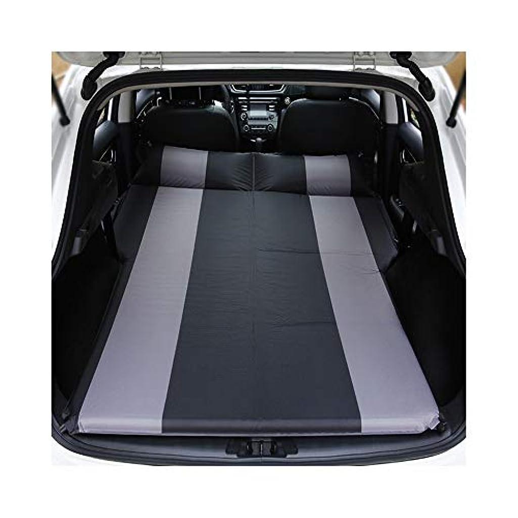 動物園テキストチャネル車の空気ポンプ屋外のキャンプの湿気防止のパッドが付いている膨脹可能なマットレスの座席旅行ベッドの空気マットレス (Color Name : Black)