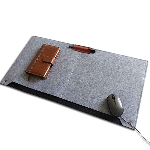 I.Lux マウスパッド ゲーミング 光学式マウス対応 高品質のウールフェルト特製 柔らかい 大型 グレー/ピンク/カーキ色 (グレー)