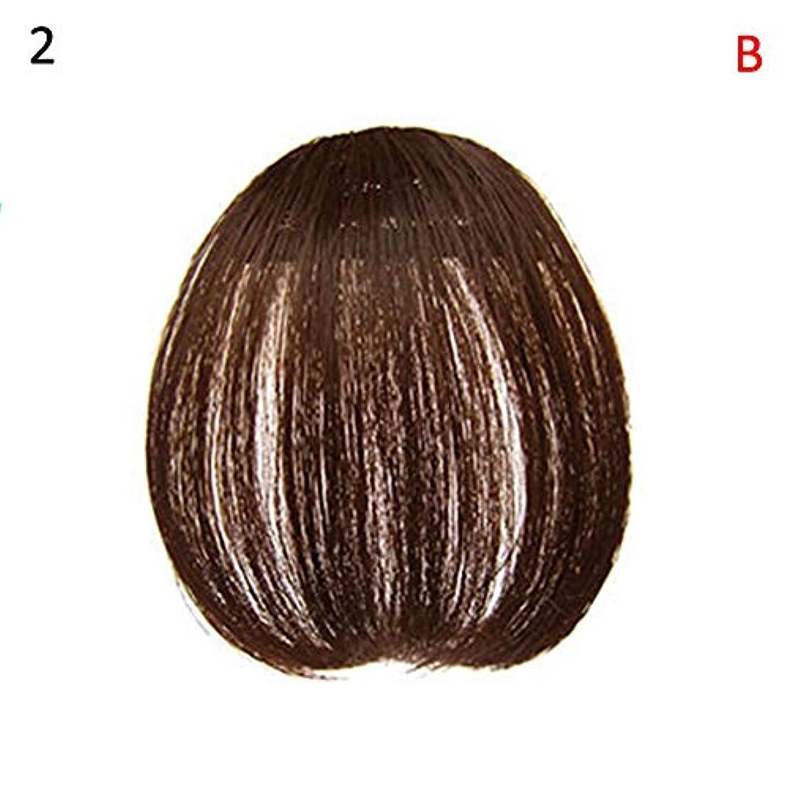 挽く傾向がある豆slQinjiansav女性ウィッグ修理ツールファッションレディース薄いクリップオンエアバンフロントフリンジウィッグヘアエクステンションヘアピース