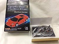 美品 元箱台座付 WELLY 1/87 ポルシェ 911 997 GT3RS 黒 ブラック・オレンジ スーパーカーコレクション