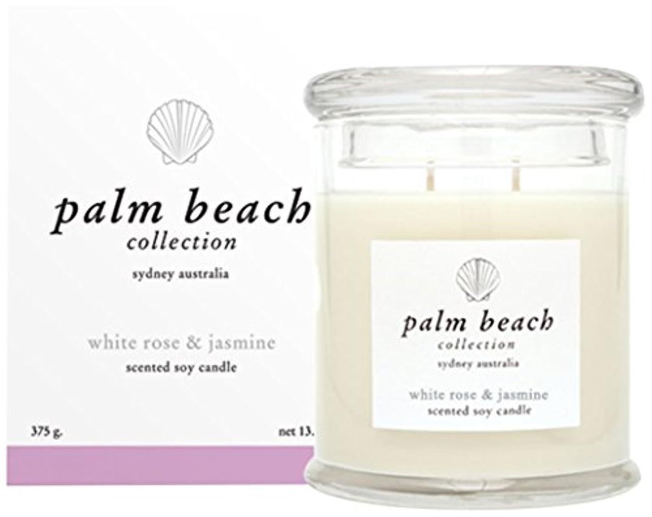 十分な韓国グラマーパームビーチコレクション ソイワックススタンダードキャンドル ホワイトローズ&ジャスミン Palm Beach Collection