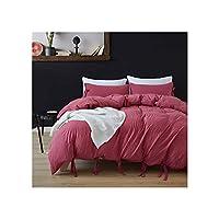 甘い弓純粋な色のモダンな寝具セットキルトカバー3ピースベッドライニングポリエステル布団カバー枕カバーセット、2、ツイン、1 pc枕