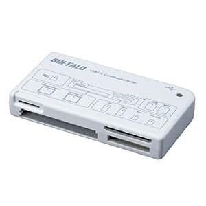 iBUFFALO カードリーダー/ライター 43+7メディア対応 ホワイト BSCRA26U2WH