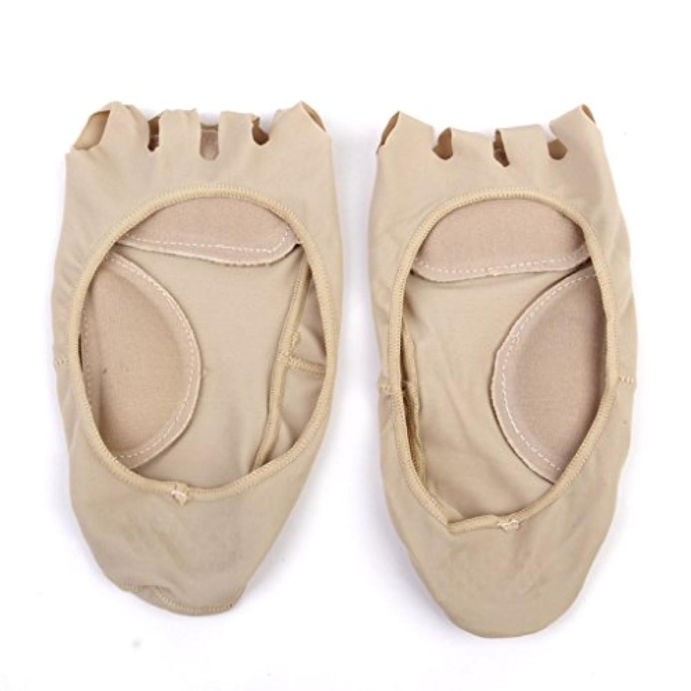 農民ソファーエンゲージメント【Footful】ソックス 靴下 5つ本指つま先 ボートソックス マッサージパッド 見えない 滑り止め アンクルソックス (ヌード)