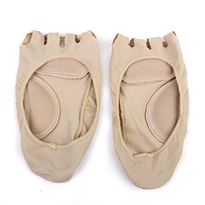 チャットビジターつまずく【Footful】ソックス 靴下 5つ本指つま先 ボートソックス マッサージパッド 見えない 滑り止め アンクルソックス (ヌード)