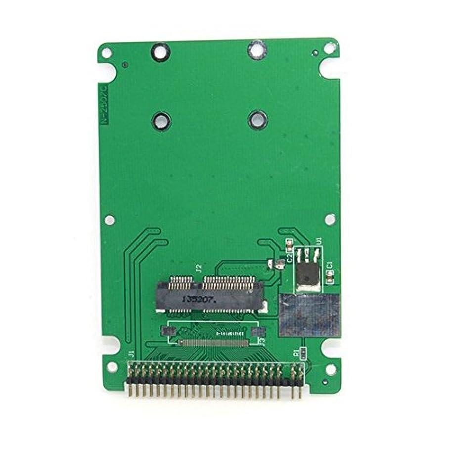 差別ヒールレールホワイト色Mini PCI - E mSATA PSATA to 2.5インチIDE 44pinハードディスクケースエンクロージャのInspiron 910 Mini 9 SSD