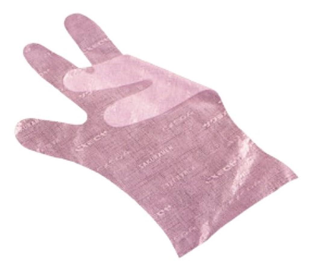 十分達成可能コメンテーターサクラメン手袋 デラックス(100枚入)L ピンク 35μ