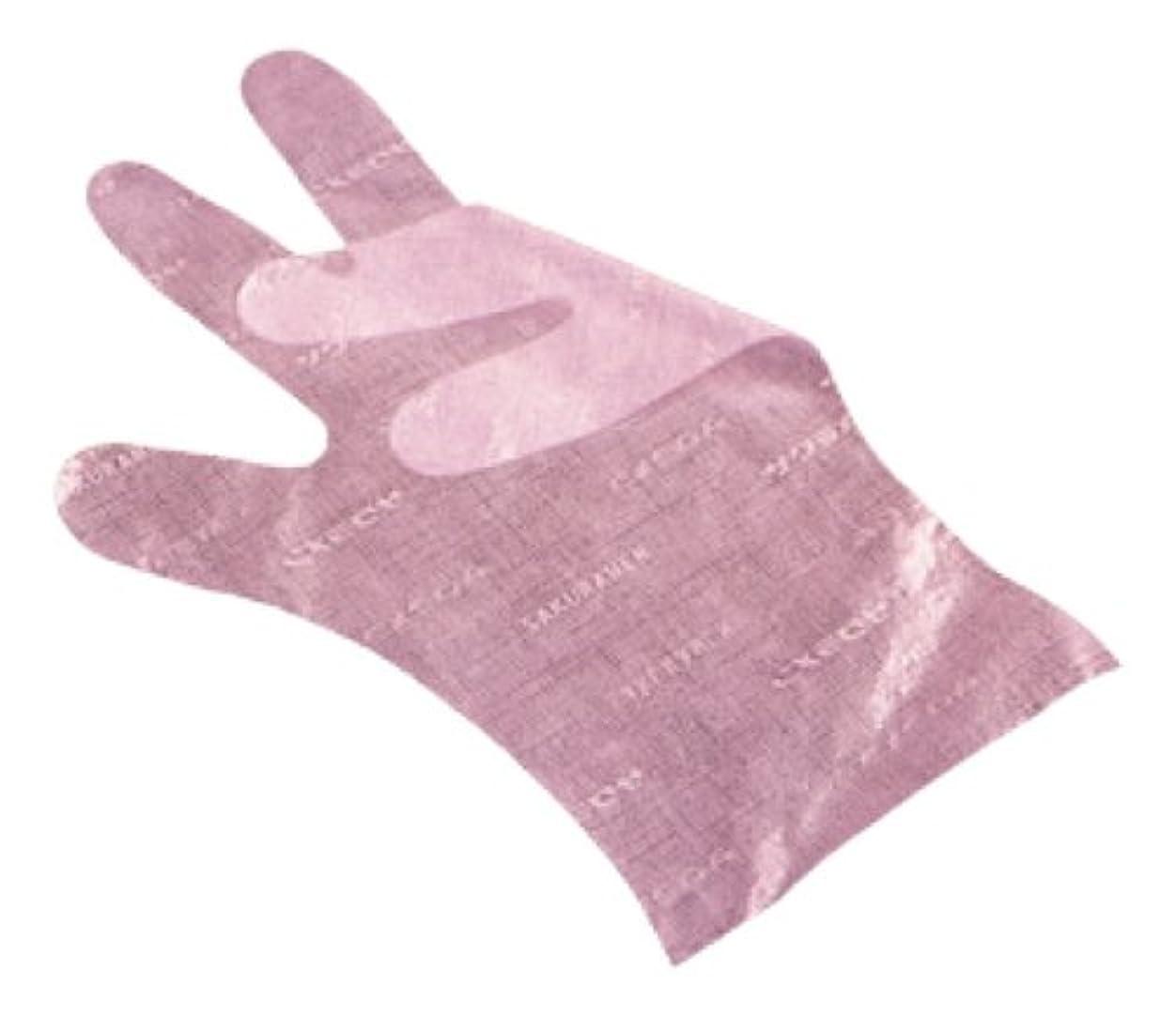 水陸両用耕す尋ねるサクラメン手袋 デラックス(100枚入)M ピンク 35μ