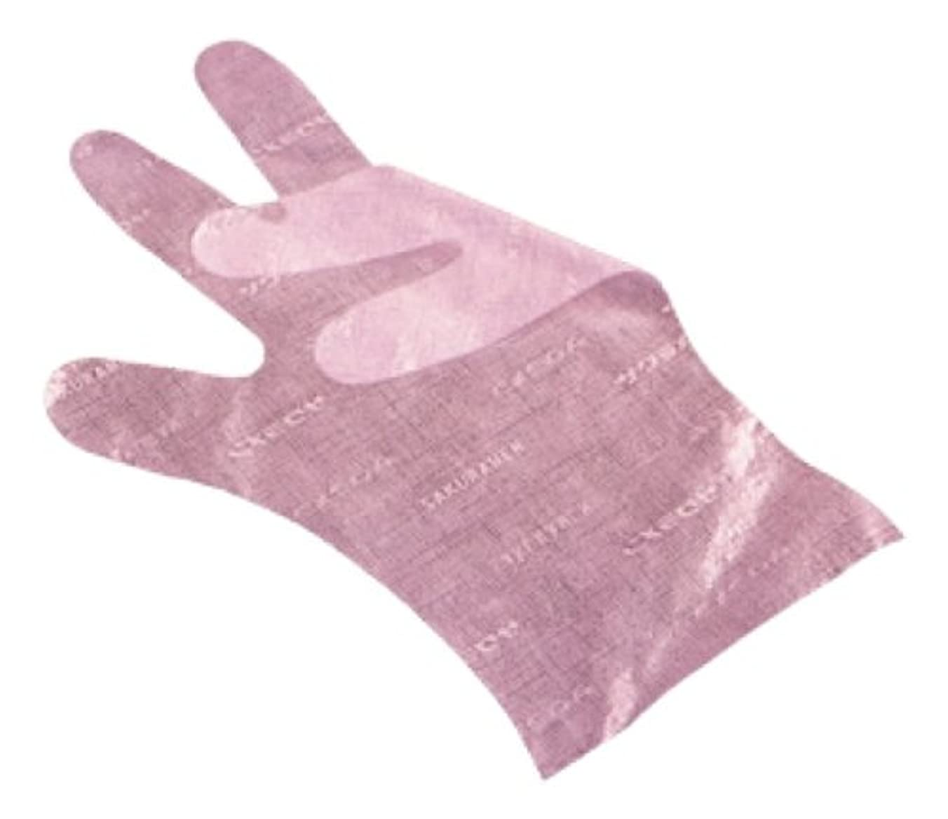 右ストレスバルブサクラメン手袋 デラックス(100枚入)M ピンク 35μ
