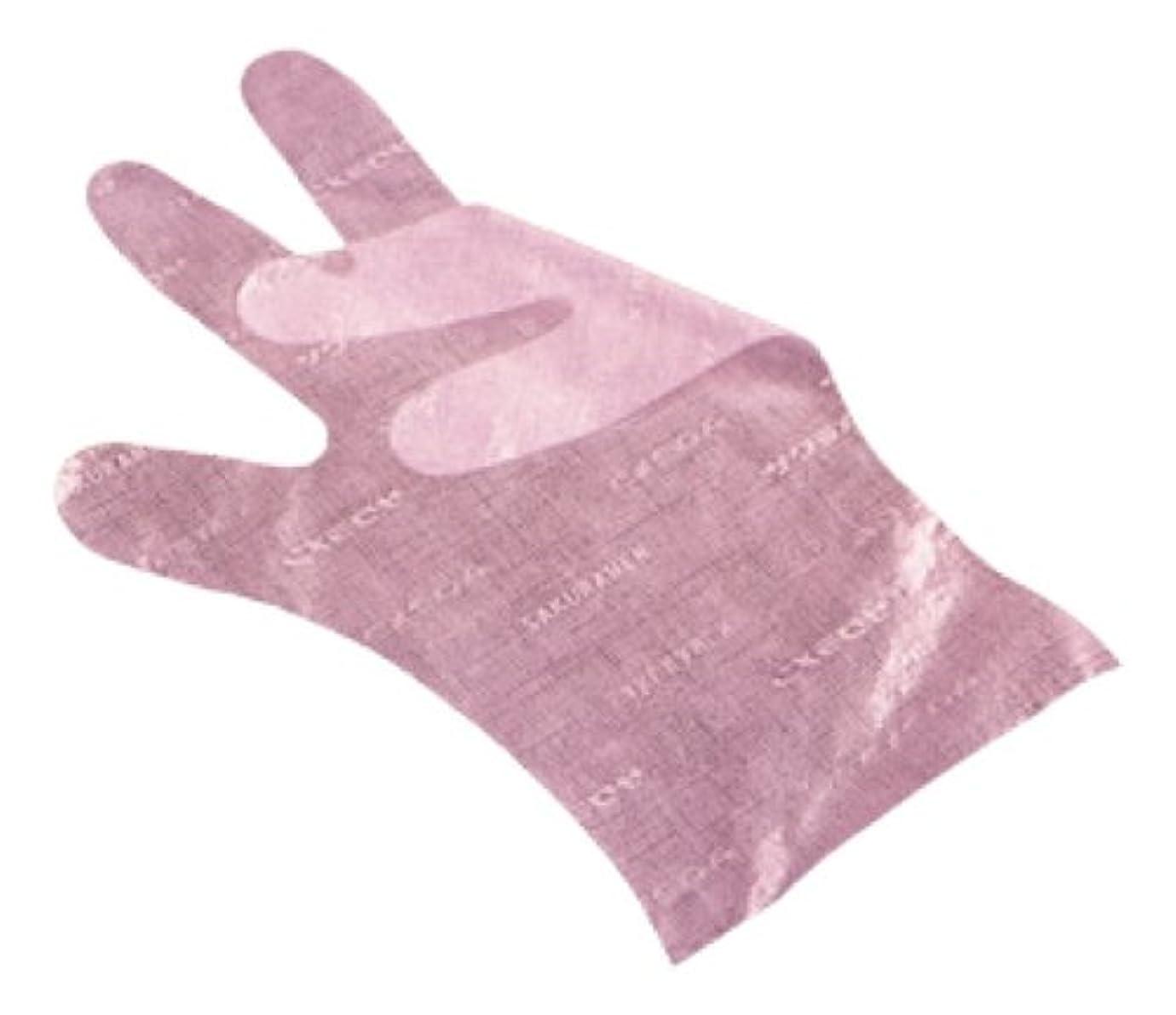 社会懸念共同選択サクラメン手袋 デラックス(100枚入)L ピンク 35μ