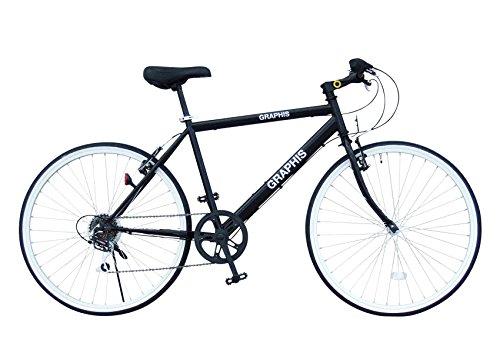 選べる15色! 自転車 クロスバイク 26インチ シマノ製6段変速 可動式ス...