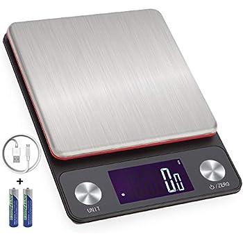 MIITO スケール デジタル はかり 料理 キッチンスケール USB充電式(usb&乾電池両対応) 3kg 0.1g 高精度センサー 量り 個数計算 風袋引き機能 オートオフ 調理 お菓子作り 台はかり 業務用 プロ用 (ブラック1)