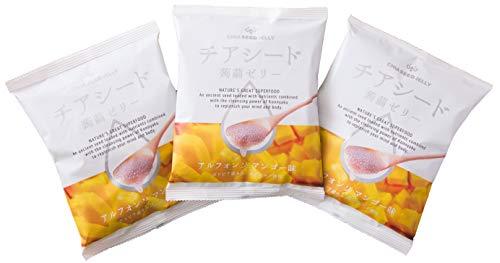 チアシード 入り 蒟蒻ゼリー アルフォンソマンゴー 味 10個入り3袋