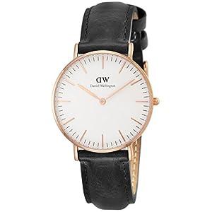 [ダニエルウェリントン]Daniel Wellington 腕時計 Classic Sheffield ホワイト文字盤 革ベルト 0508DW レディース 【並行輸入品】