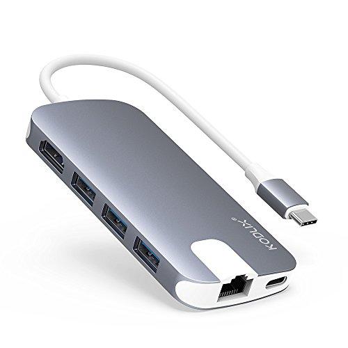 USB C ハブ Snowkids USB Type C Hub 4K HDMI ポート PD機能 1000M 有線LAN ポート USB3.0 ポート*3 USB 変換アダプター SD&Micro SDカードリーダー MacBook Pro/MacBook Air/Mac Mini/Google Chromebook 2016などに対応 小型 USB C Hub