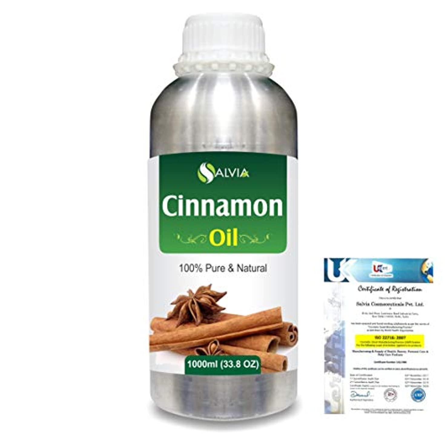 Cinnamon (Cinnamomum Cassia) 100% Natural Pure Essential Oil 1000ml/33.8fl.oz.