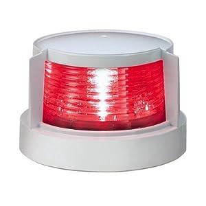 KOITO [ 小糸製作所 ] LED小型船舶用船灯 第二種舷灯(紅)(ポートライト) ボディ色:ホワイト 発光色:紅 MLL-4AB2
