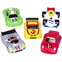 Elegant Baby Bath Time Fun Rubber Water Squirtie Toys In Vinyl Giftable Bag, Race Car Party by Elegant Baby
