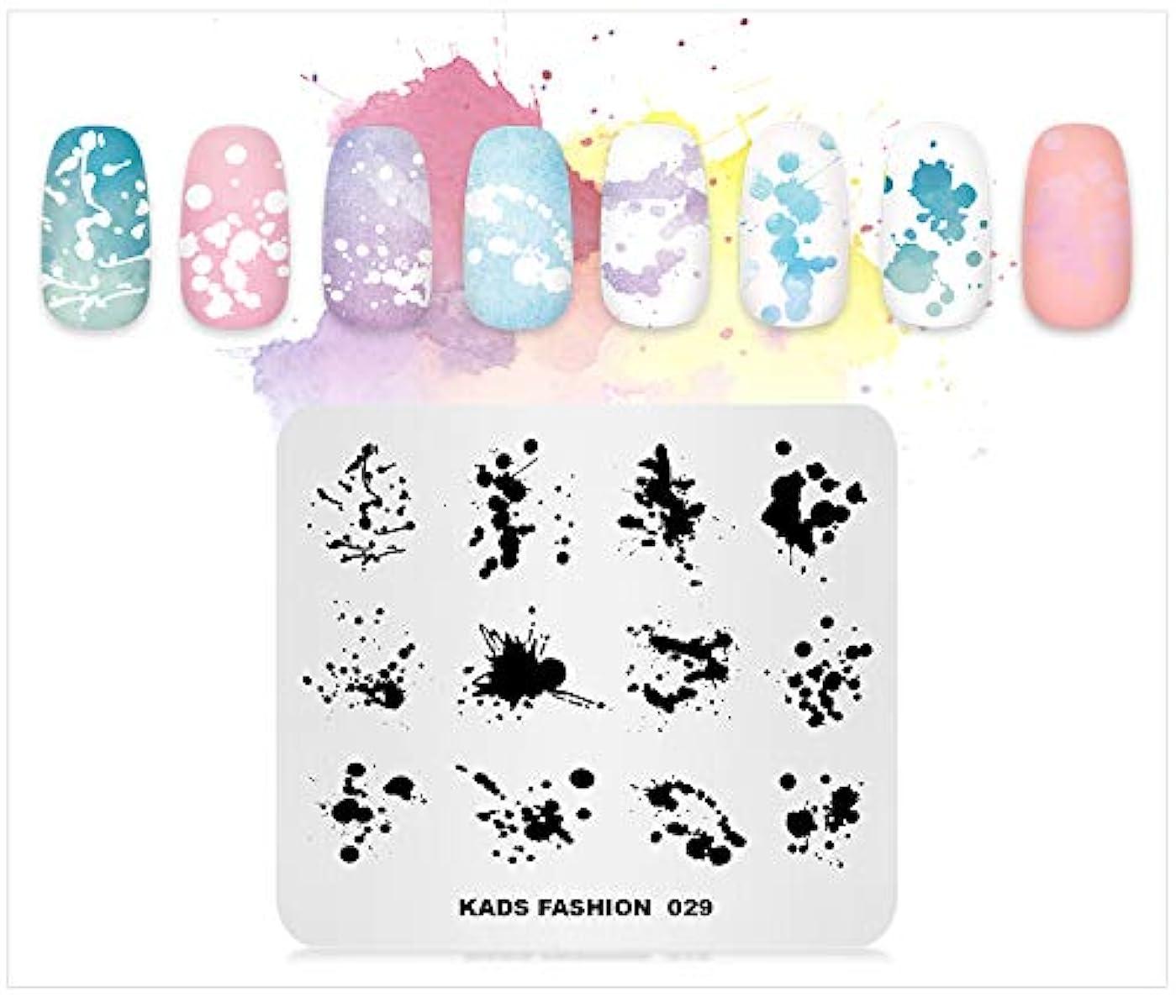 訴える全体に本体KADS ネイルスタンププレート ネイルステンシル ネイルイメージプレート ファッションスタイル (FA029)