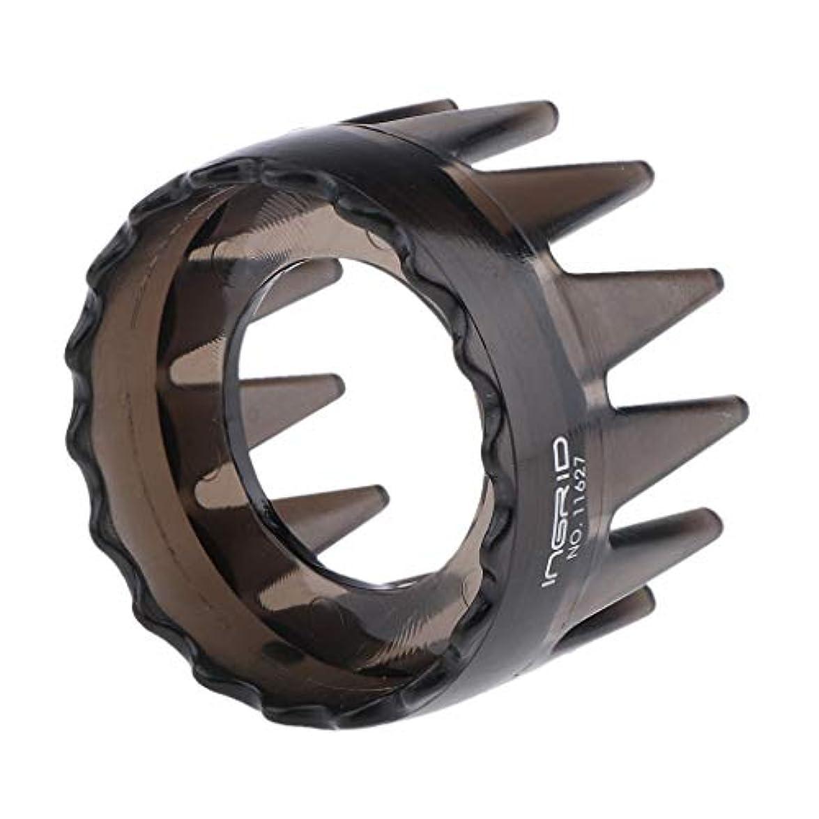 立派なスズメバチブランド名CUTICATE プラスチック製 シャンプーブラシ 洗髪櫛 マッサージャー ヘアコーム ヘアブラシ 直径約6cm 全4色 - 濃い灰色