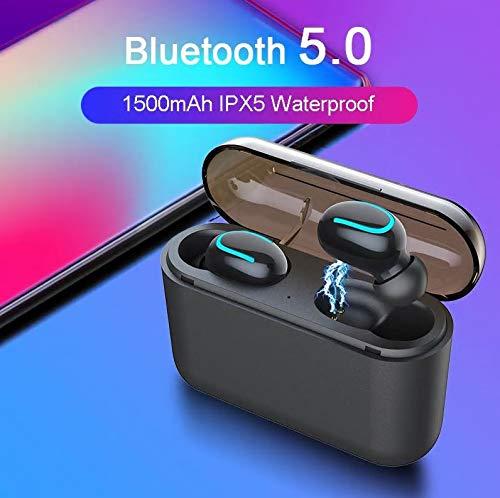 【2019最新版 Bluetooth 5.0 3500mAh 】Bluetooth イヤホン 120時間連続駆動 Hi-Fi 高音質 3Dステレオサウンド 完全 ワイヤレス イヤホン 自動ペアリング 自動電源ON/OFF ブルートゥース イヤホン スポーツ Siri対応 AAC対応 IPX5级防水 左右分離型 片耳&両耳とも対応 マイク内蔵 3500mAh大容量 充電式収納ケース付き iPhone/ipad/Android適用[技適認証済]