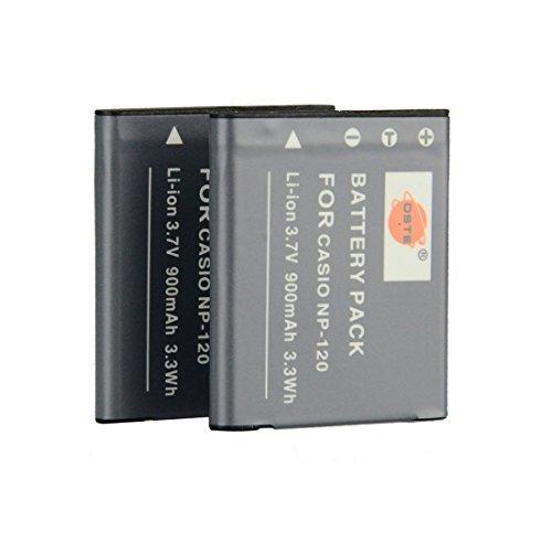 DSTE® アクセサリ Casio NP-120 互換 カメ...