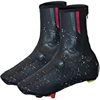 VC Comp Pro Cycling Biking Overshoes - Waterproof Tape Seams, Thermal Fleece Lining, Windproof & Aerodynamic