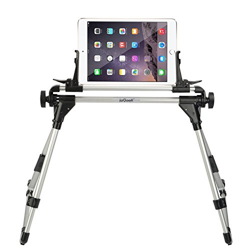 ieGeek ipadスタンド 折りたたみ式 ゴロ寝スマホ&タブレット用スタンド 寝ながらipadホルダー 軽量 高さ調整可能 iPad mini/iPad air/iPad2/3/4/ Nexus 7/ Vaio Duo 11/Kindle等タブレット&スマホ対応