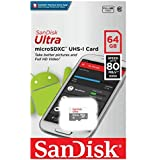 Sandisk SDSQUNS-064G-GN3MA 64 GB Class 10 Ultra Android Micro SDHC Memory Card and SD Adapter