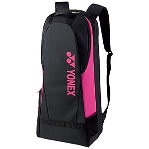 ヨネックス(YONEX) テニス ラケットリュック(ラケット2本用) BAG1738 ブラック×ピンク(181)