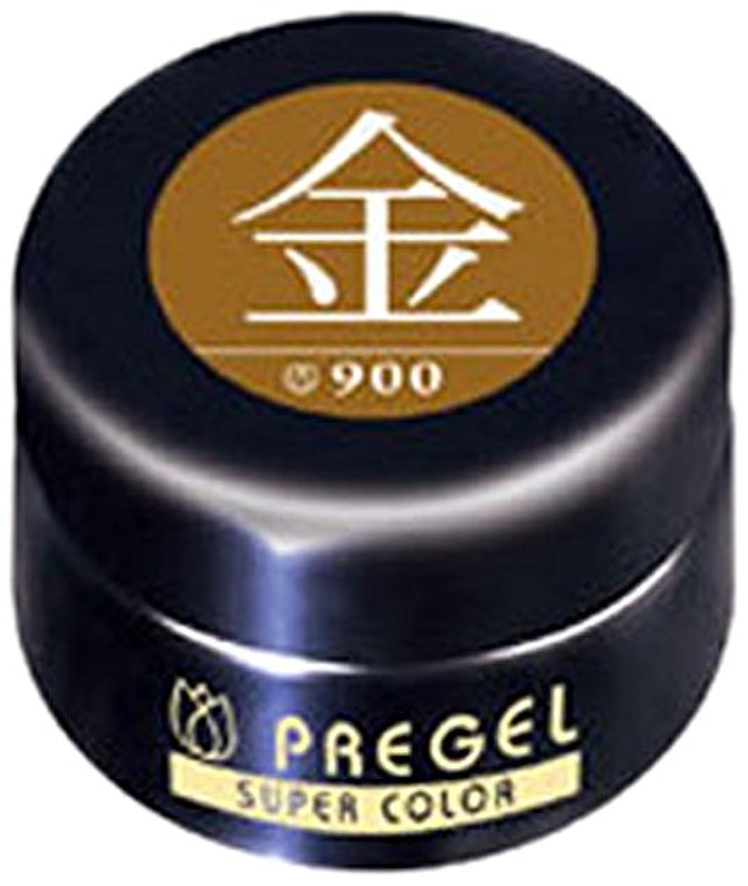 プリジェル ジェルネイル スーパーカラーEX 金 4g PG-SE900 カラージェル UV/LED対応