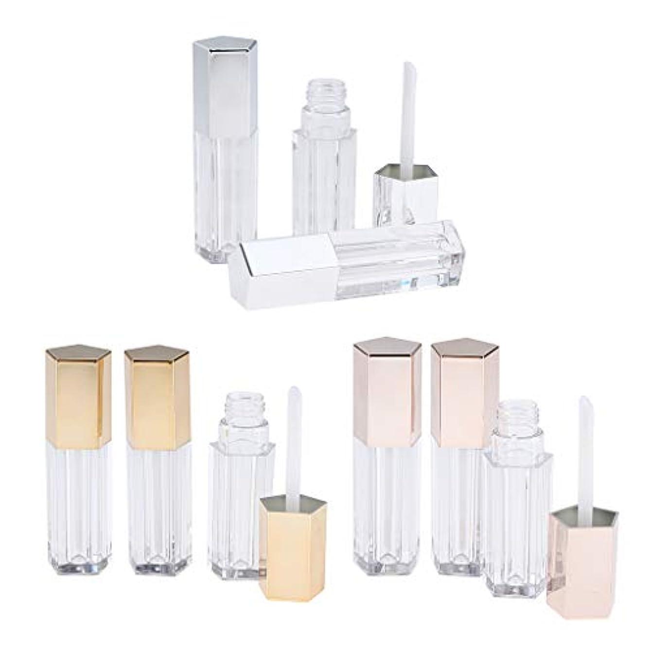パラシュートモール伝導率9本 リップグロスチューブ 口紅容器 プラスチック製 5ml 手作りコスメ 化粧品コンテナ