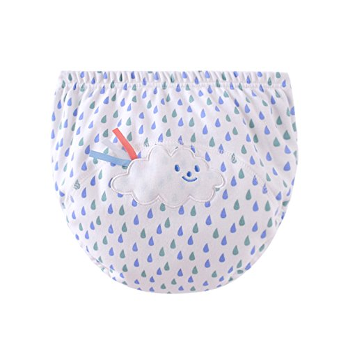 LILY CUPS イギリス風 トレーニングパンツ 中股4層 3枚組 可愛いパンツ (100cm, 白)