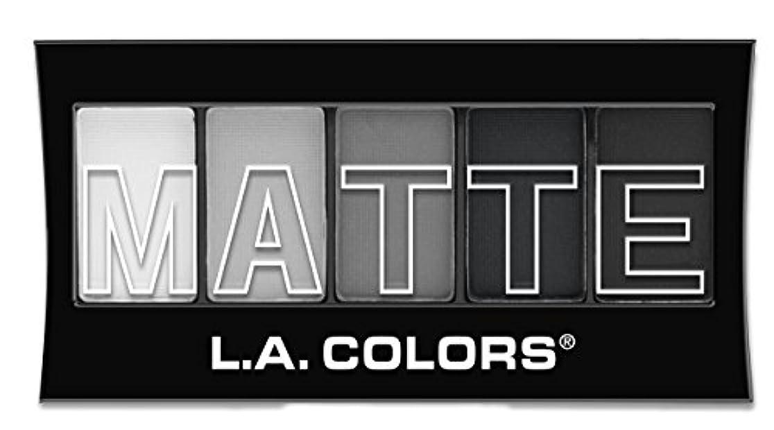 ファイナンス続編ぎこちないL.A. Colors Matte Eyeshadow Black Lace (並行輸入品)