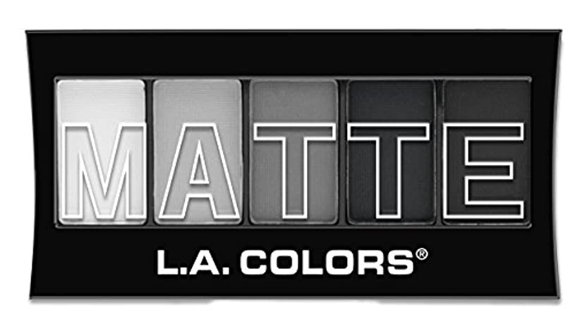 保守可能ロマンス文明化するL.A. Colors Matte Eyeshadow Black Lace (並行輸入品)