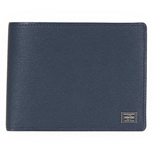c9219eeb62fb Details about YOSHIDA Bag PORTER two-fold wallet 052-02203 current leather  (Navy) Men's Women