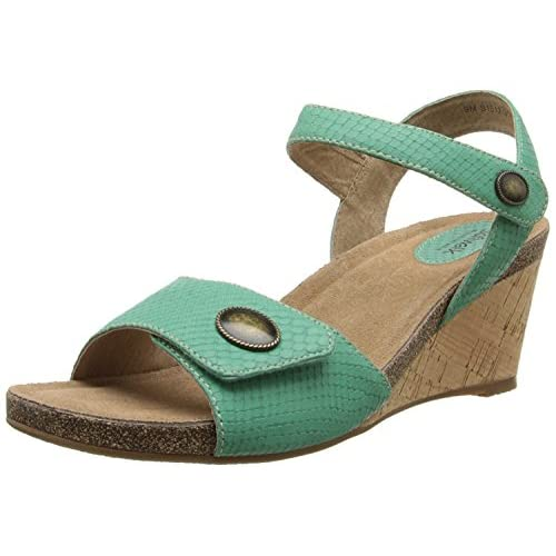 Softwalk Women's Jordan Wedge Sandal Green 9 N US [並行輸入品]