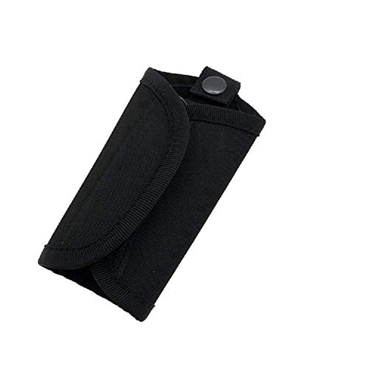 セージ赤字出来事屋外多機能キーバッグポータブルウエストバッグ戦術スポーツソリッドカラーの小さなポケット (Color : Black, Size : 20*15.5cm/7.9*6.1in)