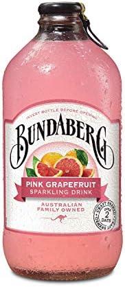 Bundaberg Pink Grapefruit Sparkling Drink, 12 x 375 Milliliters