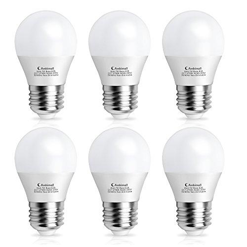 LED電球 Ambimall 口金直径26mm 60W相当(7W) 電球色(2700K)広配光タイプ 密閉形器具対応 (セット:6個入り) AMB-A157WW