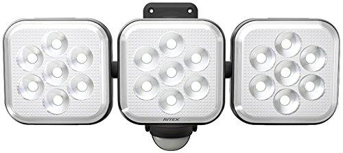 ムサシ RITEX フリーアーム式LEDセンサーライト(8W×3灯) 「コンセント式」 防雨型 LED-AC3024