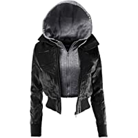 Ladies' Code Women's Zip up Cropped Biker Faux Leather Jacket